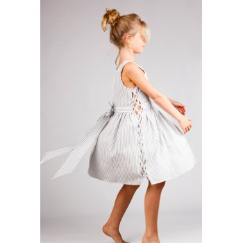 Robe Ample Rayée 5 - 6 ans